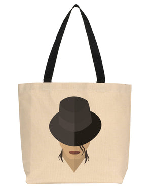 Michael Jackson Minimalist Icon Canvas Tote