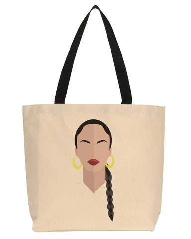 Amy Winehouse Minimalist Icon Canvas Tote