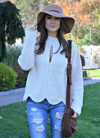 A Capsule Wardrobe Piece: Oyster Knit Sweater
