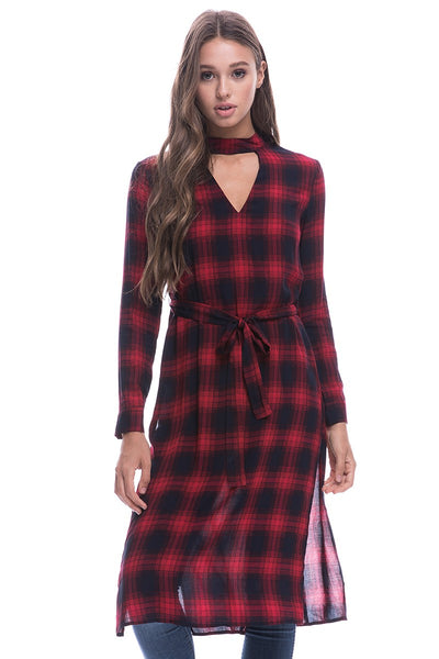 'You Had Me at Plaid' Choker Blouse