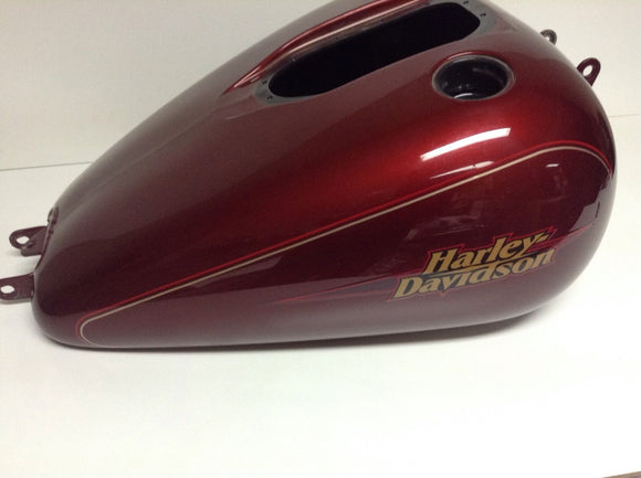 Harley OEM Gas Tank 2009 FXDL Dyna Low Rider EFI Red Hot Sunglo 61014-09CYT