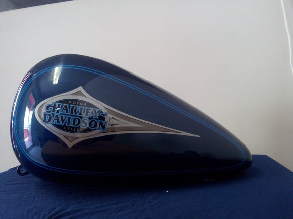 Harley OEM Gas Tank Heritage Classic FLSTC CARB Sinister Blue & Blue Stripe 2000  62177-00ZX