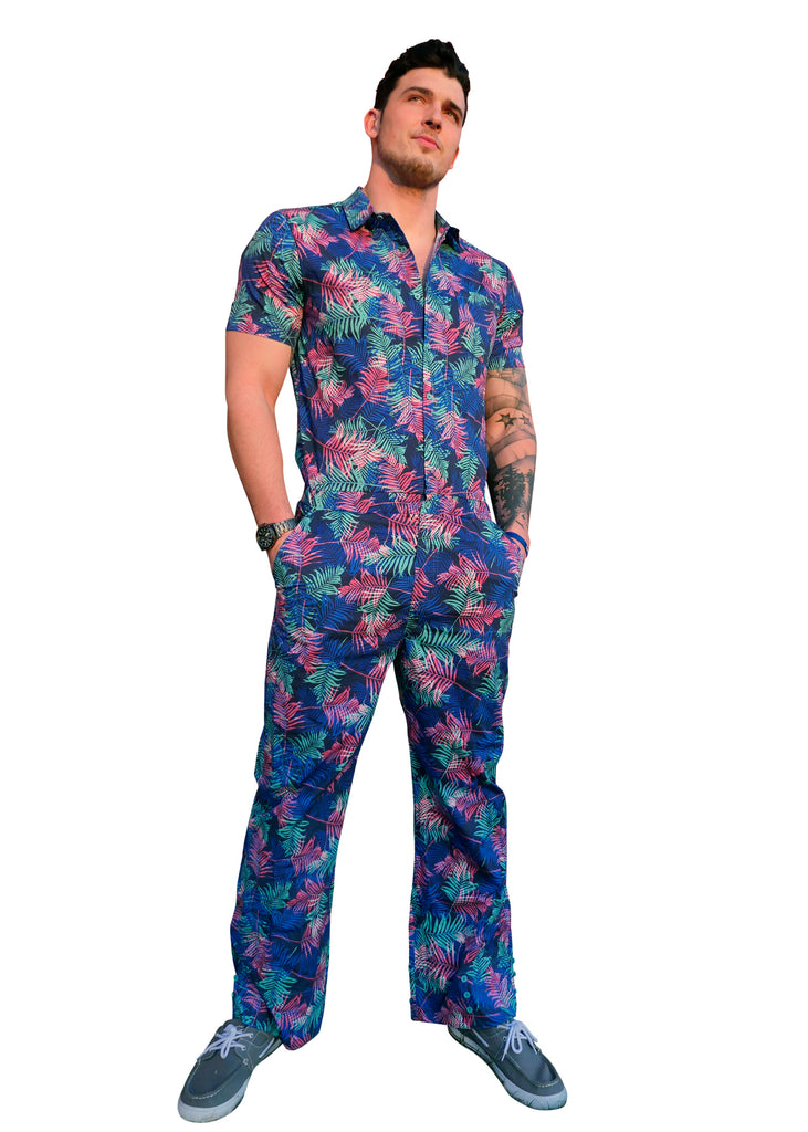 Male Pumpsuit - Palm Tree Jumpsuit