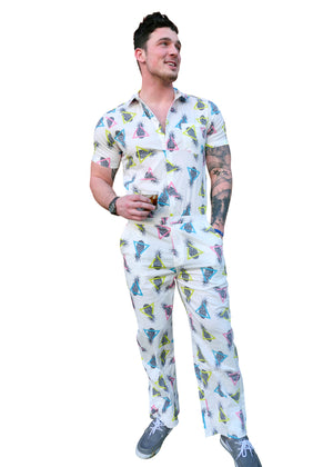 Male Pumpsuit - Pineapple Jumpsuit