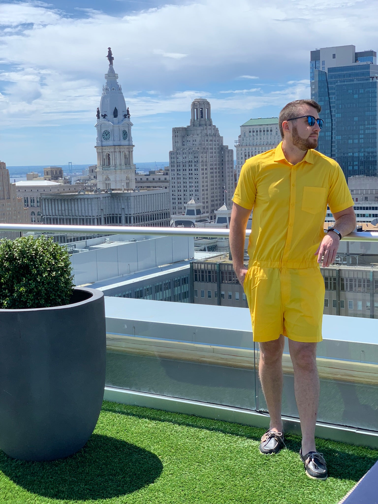 Male Romper - Yolk