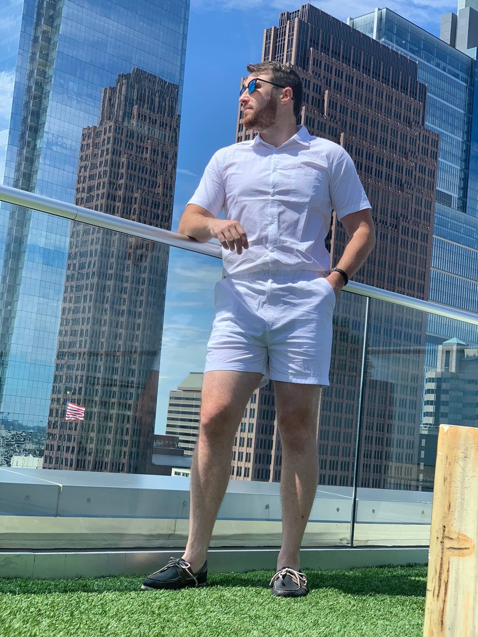 Male Romper - White