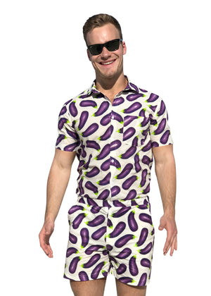 Eggplant Romper for Men