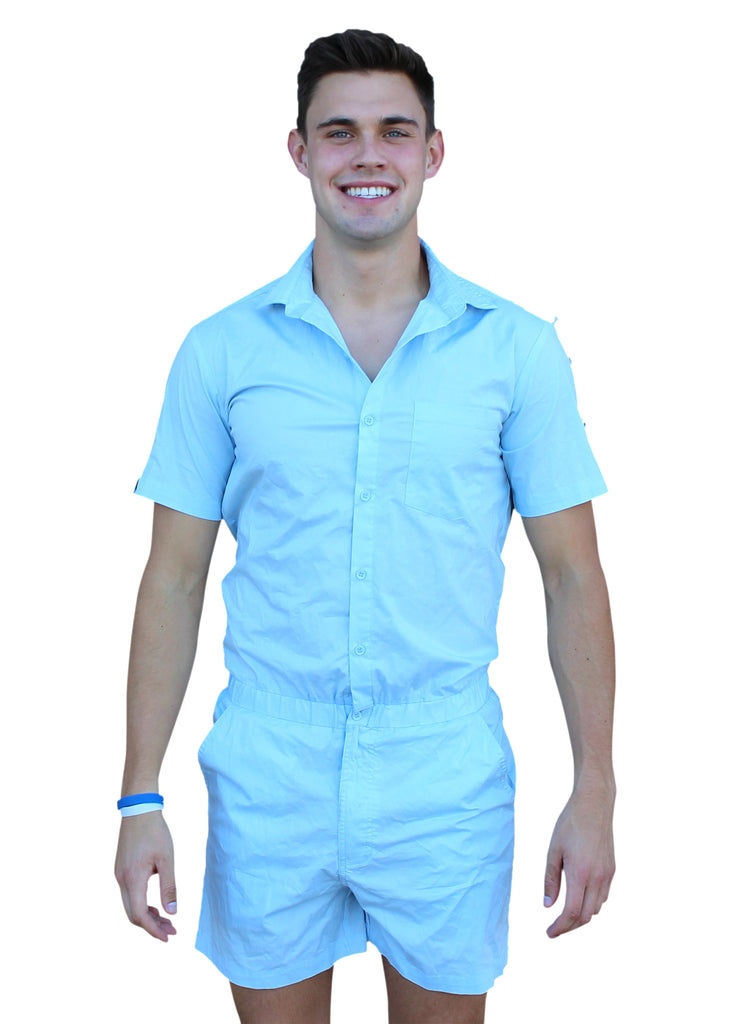 Male Romper - Sky Blue