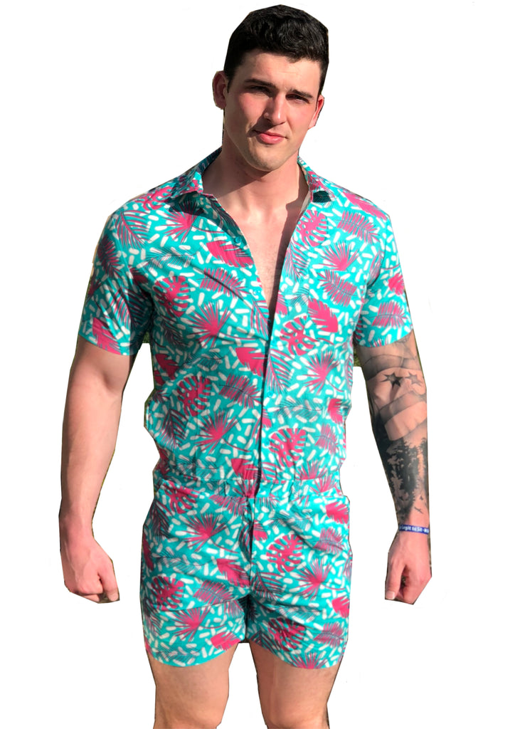 Fronds Romphim Romper for Men