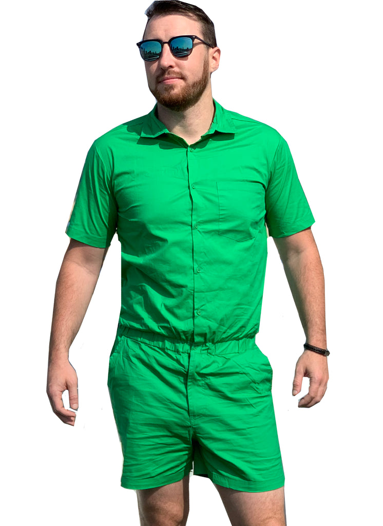 Male Romper - Kelly Green