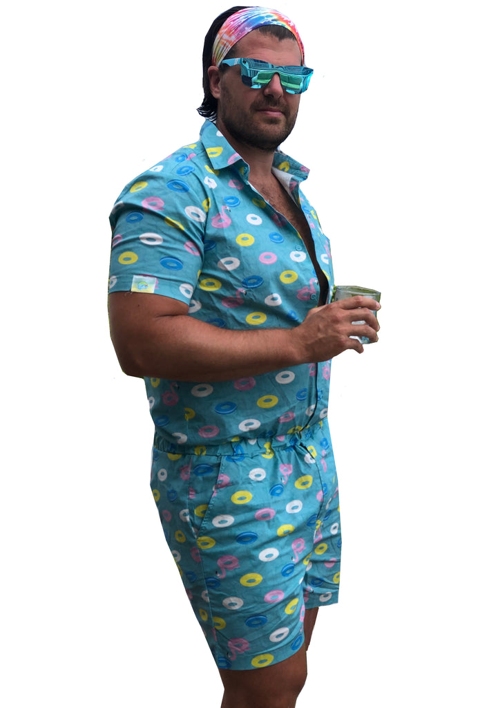 Male Romper - Pool Party