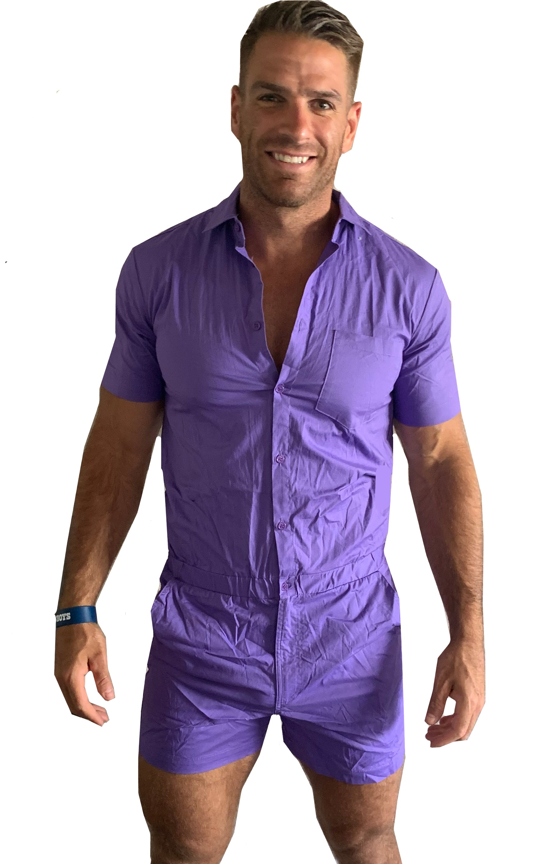 Male Romper - Light Purple