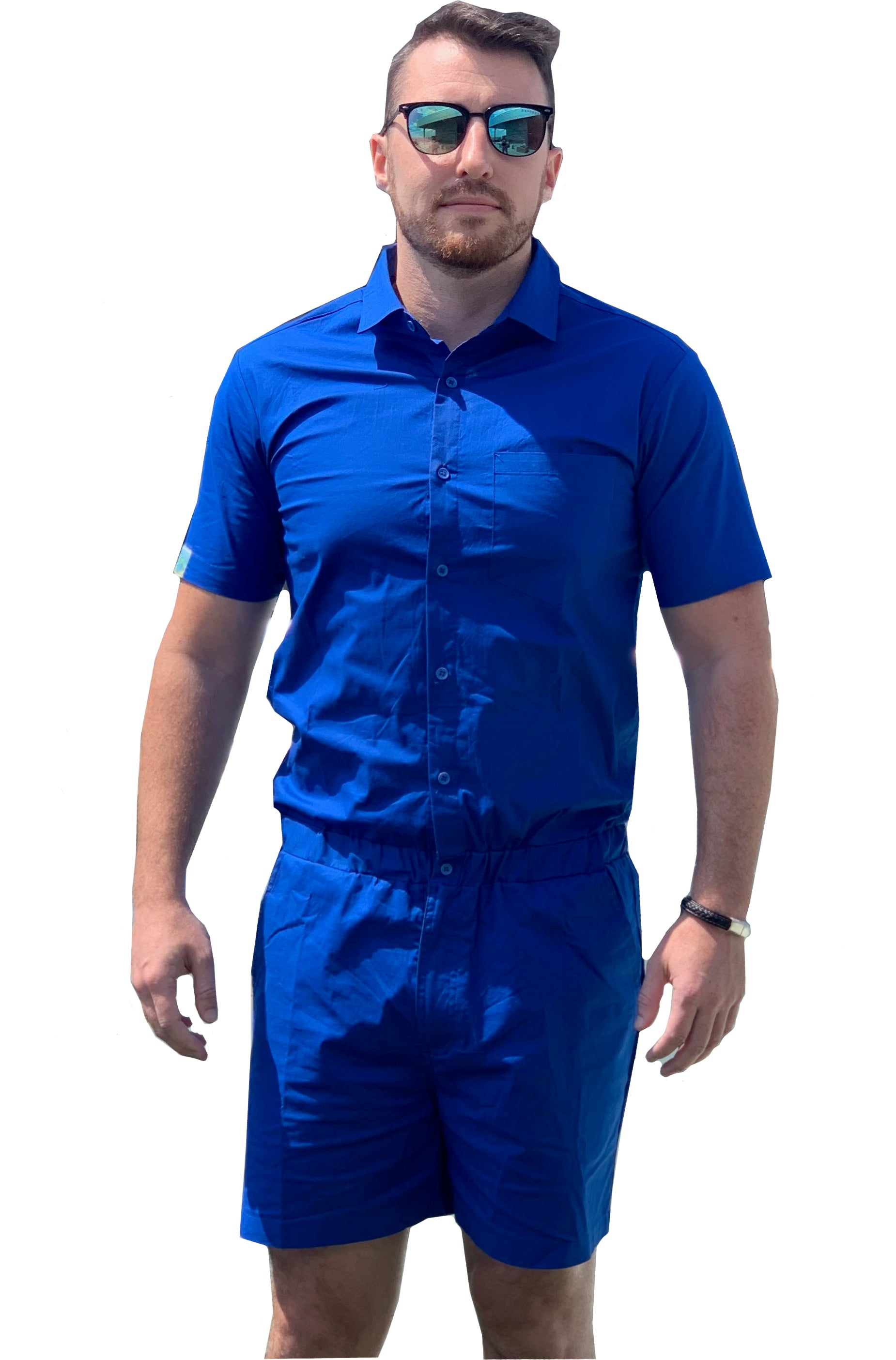Male Romper - Royal Blue
