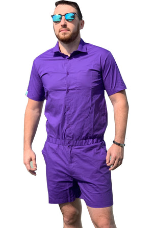 Purple male romper outfit