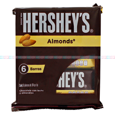 HERSHEYS BARRA ALMONDS 14/6