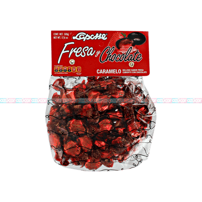 LAPOSSE CARAMELO FRESA Y CHOCOLATE12 /500G_LAPOSSE