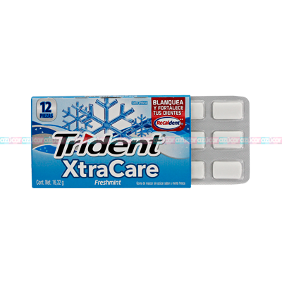 ADAMS TRIDENT XTRA CARE FRESHMINT 32/12