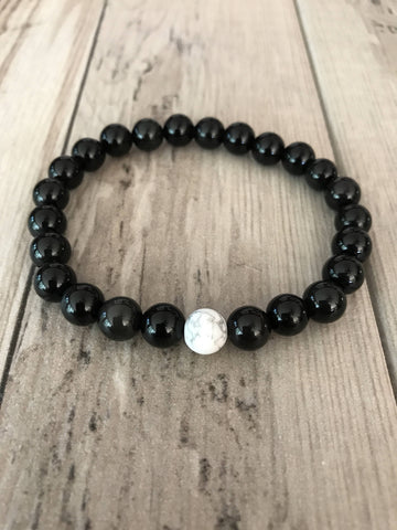 Mala Bracelet with Black Obsidian