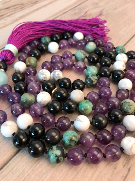 Colorful Gemstone Mala Necklace
