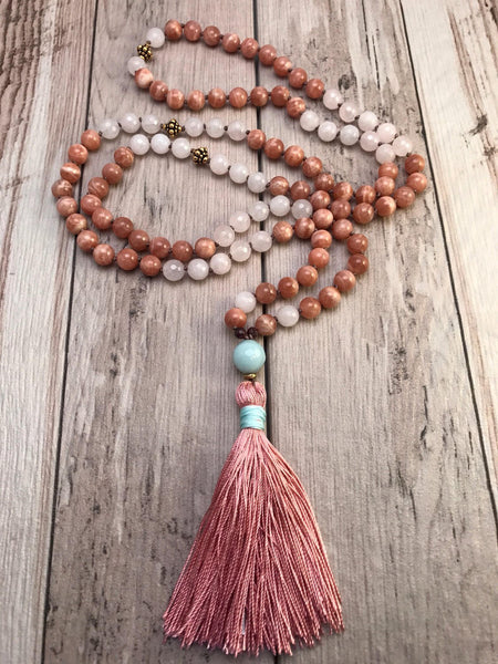 Sun and Sand Mala Necklace