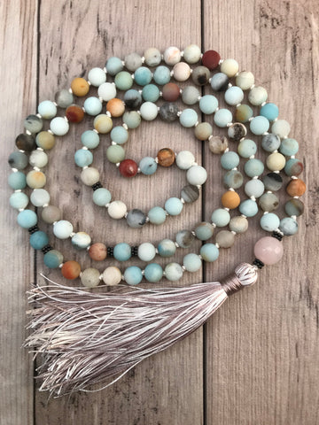 Delicate Amazonite Tassel Necklace