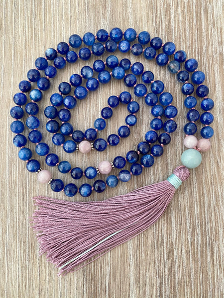 Kyanite Mala Necklace