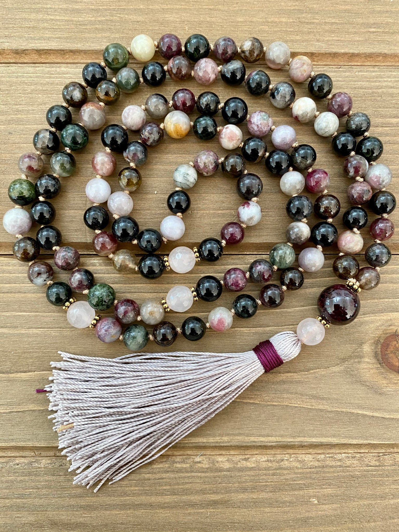 October Birthstone Mala Necklace