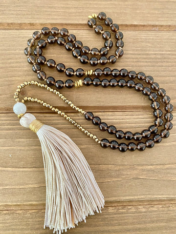 MINI MALA Smokey Quartz