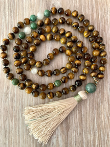 Jade and Tigers Eye Mala