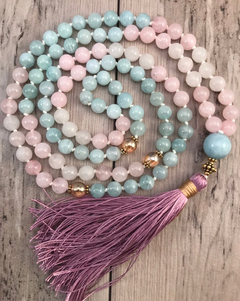 Lotus Blue Moon Mala