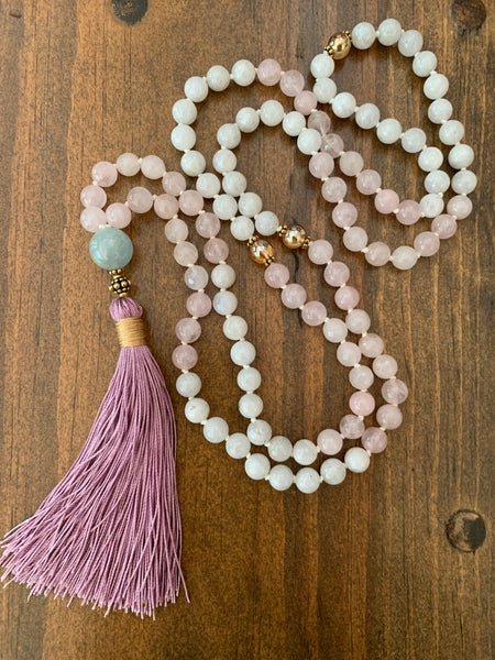 Lotus Moon Mala Necklace