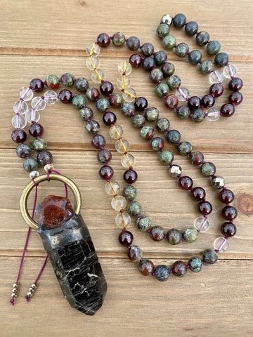 Evergreen Goddess Mala
