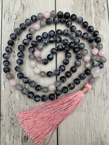 Australian Grey Opal Mala Necklace