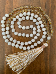 November Birthstone Mala Necklace