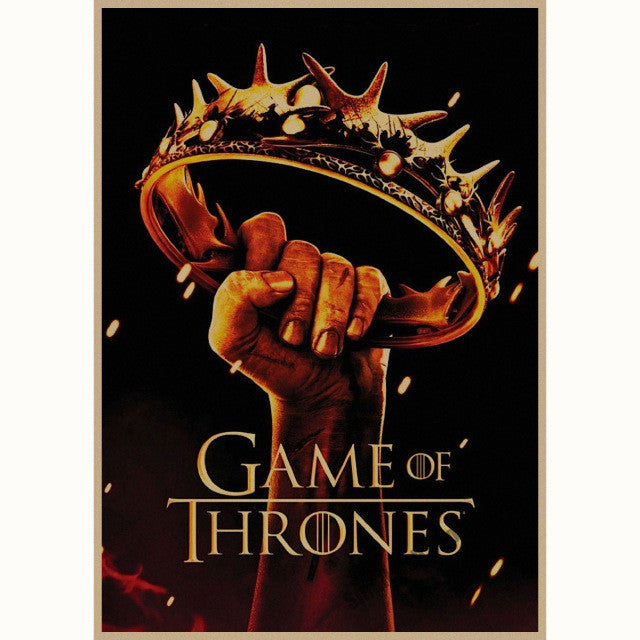 Game of Thrones movie retro Poster Retro Kraft Paper Bar Cafe Home Decor Painting Wall Sticker