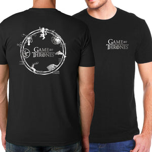 2017 Summer Game of Thrones Men T-Shirts Hip Hop T shirts House Stark Fire & Blood T Shirt Fashion Brand-Clothing Loose Top Tees