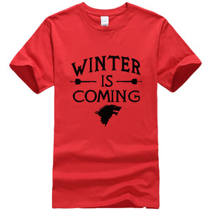 Men T Shirt Printed Winter Is Coming Game of Thrones