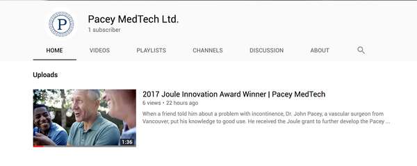 Pacey MedTech NEW YouTube Channel - Videos