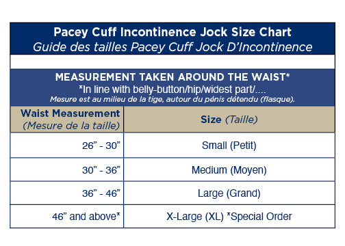 Pacey Cuff Incontinence Jock - Incontinence support with reusable absorbent pads