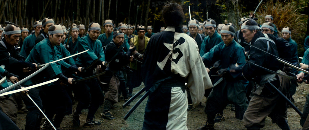 Blade of the Immortal back shot of Takuya Kimura