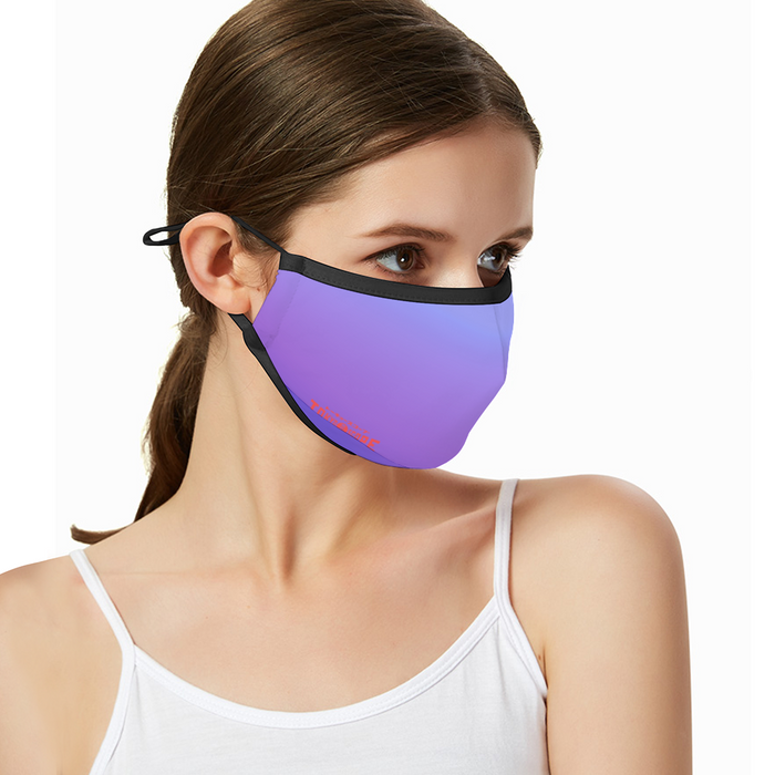 Breathable sunscreen mask KZ12, Dust Masks with Filter -purple gradation