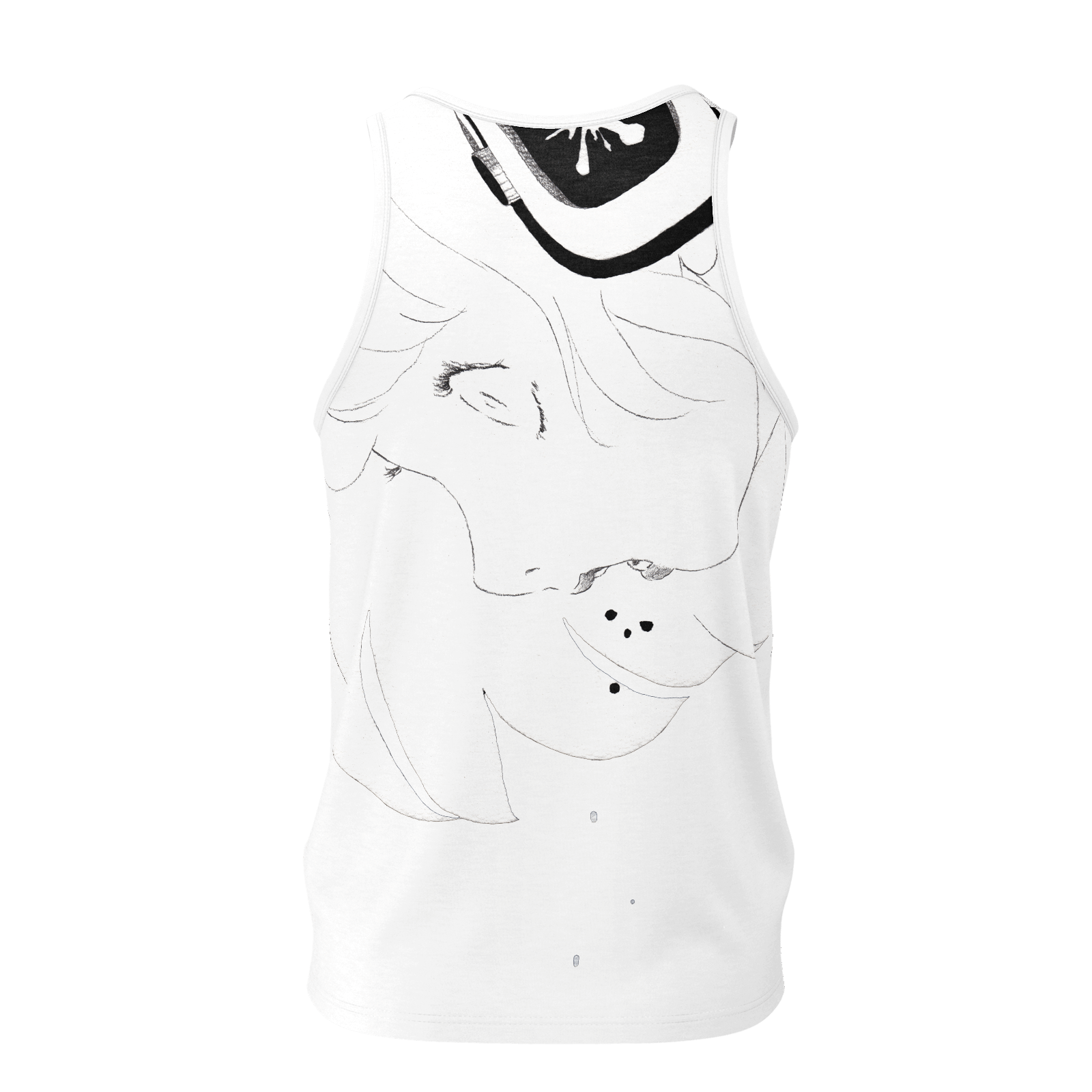 Paranoia Girls - tank top - 2 sided - Larissa Loses - White - Poly 2019