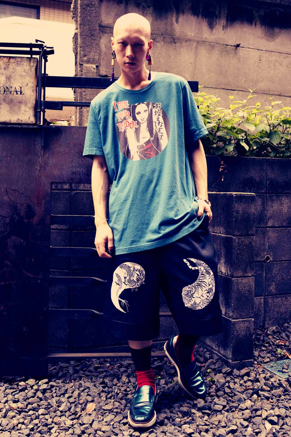 "YANKII STYLE ""I Beg Your Pardon"" Unisex T-shirt by Haruki Ara"