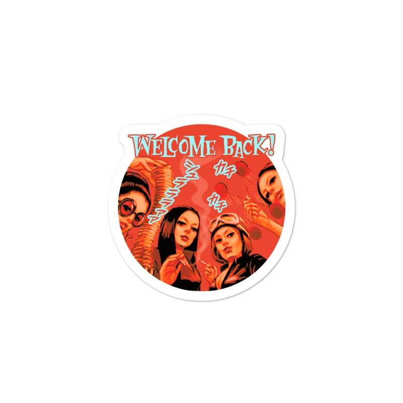 """Welcome Back!"" YANKII STYLE Die-Cut Sticker by Haruki Ara"
