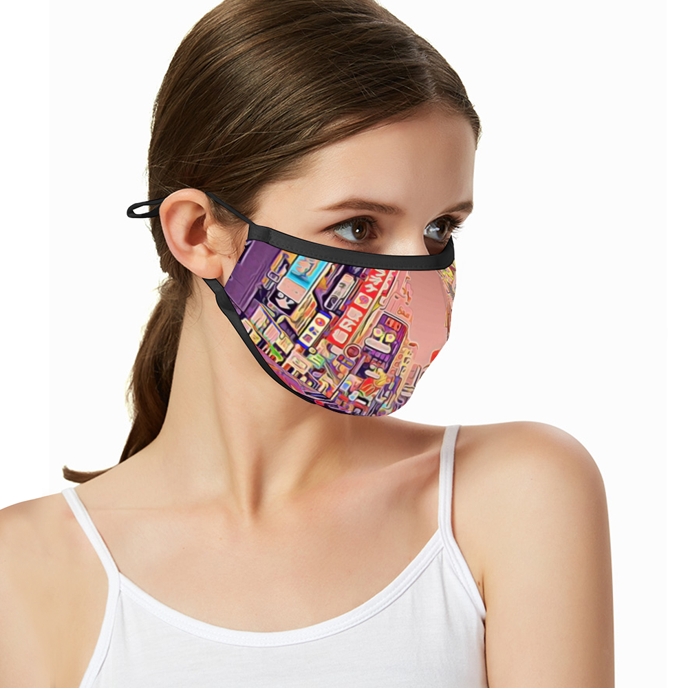 Breathable sunscreen mask KZ12, Dust Masks with Filter - Tokyo - Shibuya - Center Gai