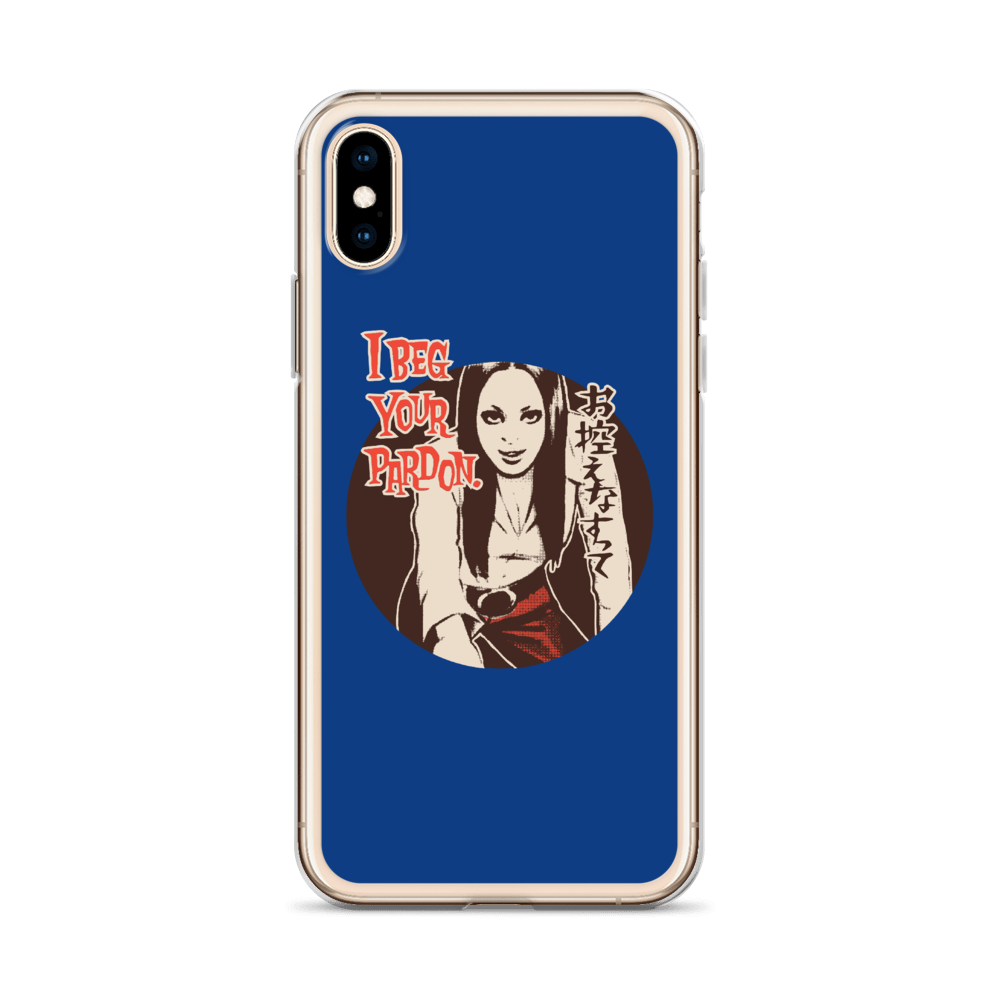 "YANKII STYLE ""I Beg Your Pardon"" iPhone Case by Haruki Ara"