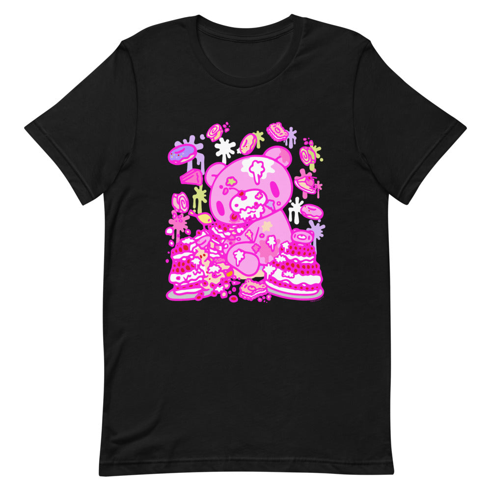 "GLOOMY BEAR Official ""Pink x Black"" T-shirt by Mori Chack"