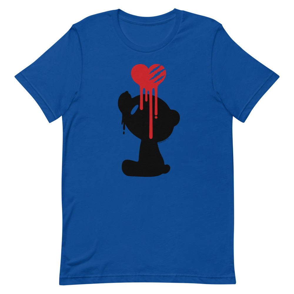 "GLOOMY BEAR Official ""Bleeding Heart"" T-shirt by Mori Chack"