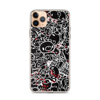"GLOOMY BEAR Official ""Black and White Khaos"" iPhone Cases by Mori Chack"