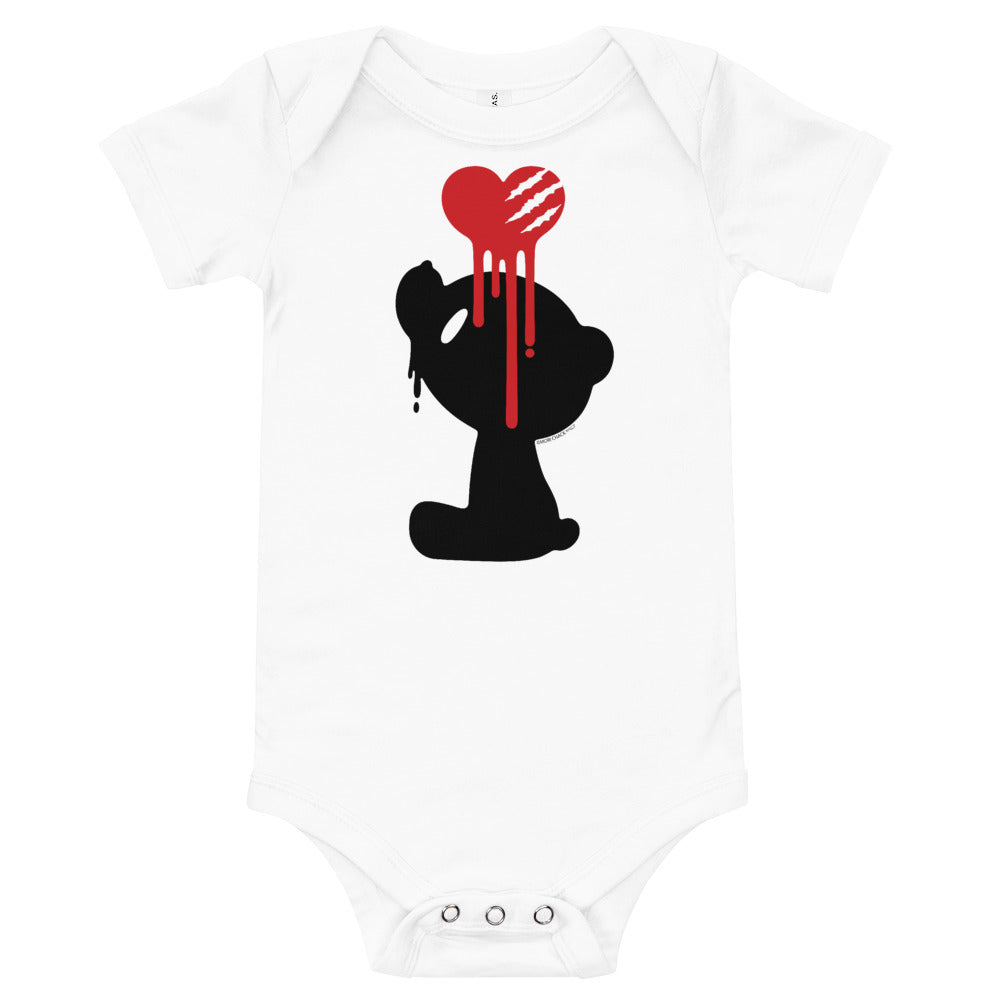 "GLOOMY BEAR Official ""Bleeding Heart"" Baby Romper by Mori Chack"